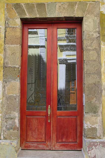 Photo example of an old door in the colonial part of for Different styles of doors