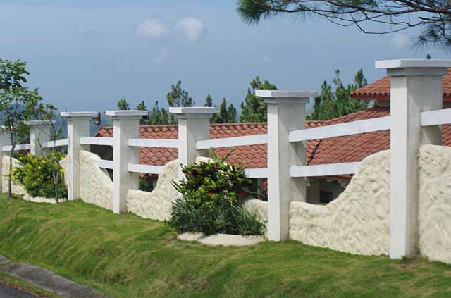 Philippine dream house design - Photo Example Of A Fence Made Of Beige Curved Wall