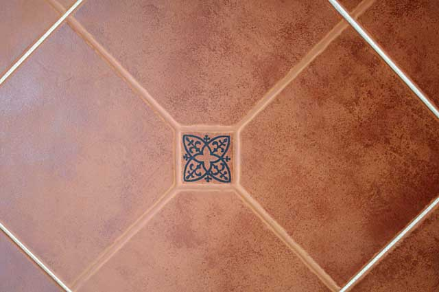 Photo Example Of A Floor Tile In Brick Red Color Ideal For Terraces - Different styles of tile flooring
